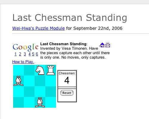 Last Chessman Standing